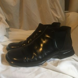 Men's Prada Black Leather Low Rise Boot